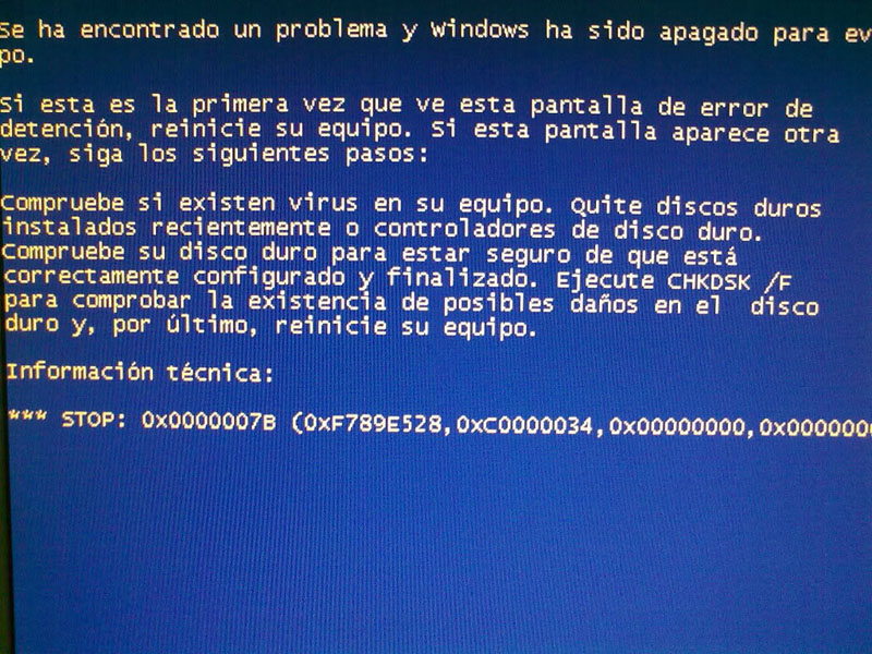 Pantallazo Azul Windows